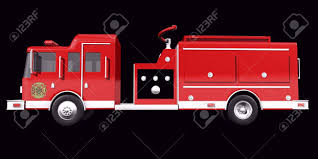 100 Black Fire Truck Side View On Background Stock Photo Picture And