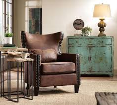Image Of Rustic Leather Couch Modular