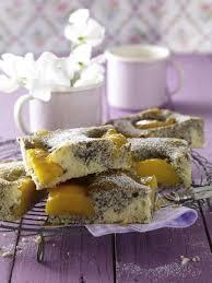 pfirsich mohn kuchen vom blech rezept lecker rezept