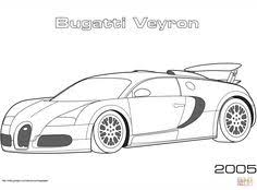 Super Car Buggati Veyron Coloring Page Cool Printable Free