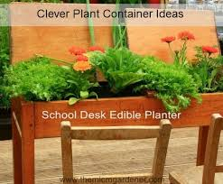 School Desk Edible Planter