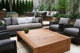 TRU Furniture Custom Teak Outdoor Coffee Table NbspSolid Plank Construction Nbsp
