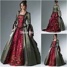 1800S Vintage Civil War Gothic Ball Gown Victorian Dresses Renaissance Dress