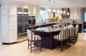 Beautiful Large Kitchen Design Ideas With Hanging Lamps And Long Table