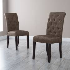 Upholstered Dining Chairs Set Of 6 by Morgana Tufted Parsons Dining Chair Set Of 2 Hayneedle