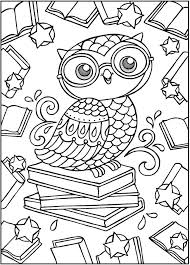 SPARK Owls Coloring Book Sample Pages Dover Publications