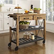 Crosley Furniture Roots Rack Industrial Kitchen Cart 42 W X 18 1 4 D 38 3 4H