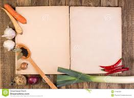 fond de cuisine cookery book on wooden background stock image image of food