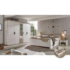 schlafzimmermöbel komplett set 5 tlg ferna 61 im landhausstil pinie weiß nb mit pinie dunkel nb