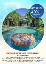 100 Bali Tea House Promo High Season 2019 Chimera Villas