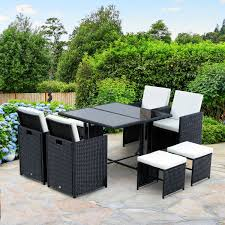 Details About 9pc Outdoor Patio Furniture Garden Wicker Dining Set Rattan  Table Cushioned Seat 315 Round Alinum Table Set4 Black Rattan Chairs 8 Seater Ding Set L Shape Sofa Brown Beige Garden Amazoncom Chloe Rossetti 17 Piece Outdoor Made Coffee Table Set Stock Photo Image Of Contemporary Hot Item Modern Fniture Stainless Steel And Lordbee Large 5 Pcs Patio Wicker Belleze 3 Two One Glass Details About Chair Cushion Home Deck Pool 3pc Durable For Pcs New Y7n0