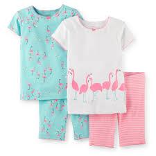 Amazon Com 4 Piece Baby by Amazon Com Carters Baby Girls 4 Piece Snug Fit Cotton Pjs