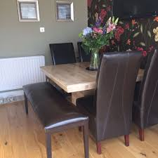 Reduced 4 Quick Sale Barker And Stonehouse Marble Dining Table Leather Chairs
