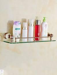 badregal mode badezimmer racks glas einschichtiges