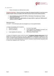 bureau d emploi tunis الوكالة الألمانية للتعاون الدولي giz عرض تربص fr orientation
