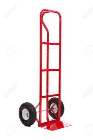A Red Hand Truck/dolly On A White Background Stock Photo, Picture ...