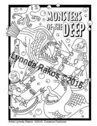 Printable Coloring Page Monsters Of The Deep An Adult