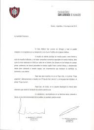 La Carta Del Club San Lorenzo A Su Hincha Más Famoso