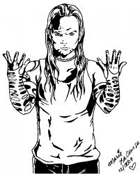 Jeff Hardy Coloring Pages 4 Free Printable Page