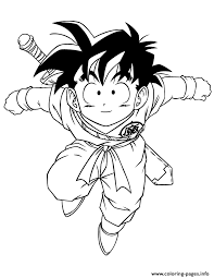 Dragon Ball Z Goten Coloring Page Pages