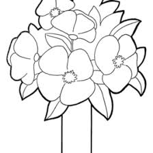Picture Of A Flower To Color Coloring Pages For Kids In