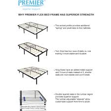 premier flex platform bed frame with adjustable lumbar support