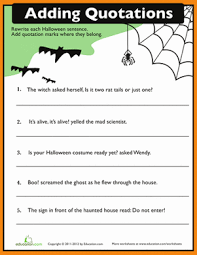 Is Halloween Capitalized by Quotation Punctuation Quotation Worksheets And Learning