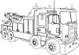 Fire Truck Coloring Page - Yintan.me