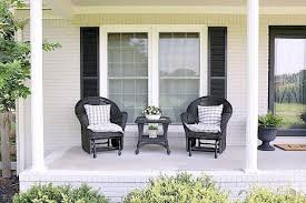 20 Affordable Farmhouse Porch Design Ideas To Create An ... Hover White Wicker Lucca Modern Fniture Zoom Room Breeze Century Farmhouse Whitehall Alinum Mid Designs Ding Shabby Chic Farmhouse Table 6 Wicker Chairs In Ex2 Exeter Home Chairs As Well 17 7piece Patio Set Exciting Swivel Bar Stools Wood Back Stool Stanley For Piece Antique Height Metal Counter Amusing Freestanding Kitchens Fxible Ideas Homes Kitchen Blog Something Vintage Rentals 40 Cozy Living Rooms And Decor Funmom