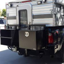 F 250 With Four Wheel Camper And Aluminess Rear Bumper With Box ...