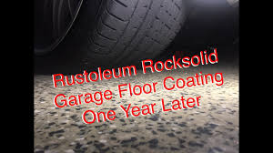 Rocksolid Garage Floor Coating Instructions by Rustoleum Rocksolid Garage Floor Coating 1 Year Later Youtube