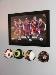 Soccer Themed Bedroom Photography by Mac U0027s Room Cool Soccer Ball Holders From The Container Store