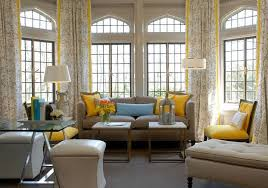Comfortable Living Room Yellow And Gray Grey Designs