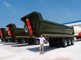 100 Semi Truck Trailers 28cbm Semi Dump Trailer Dump Truck Trailer To Transport Sand