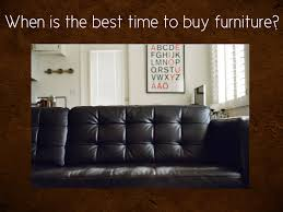 WHEN IS THE BEST TIME TO BUY LEATHER FURNITURE