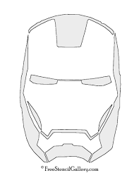 Iron Man Mask Pumpkin Stencil Clipart
