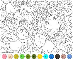 Coloring Pages Advanced Color Number Vivoidvrlists Fine By Worksheets For Adults Beauteous Printables