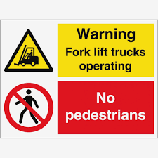 100 Signs For Trucks K Lift Operating No Pedestrians From Key UK