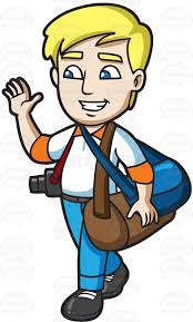 A Male grapher Waving Goode Before He Travels Cartoon Cartoon Waving Goodbye