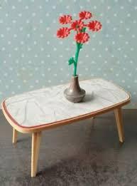 details zu tisch mit blume crailsheimer wohnzimmer 60er 70er jahre möbel puppenstube
