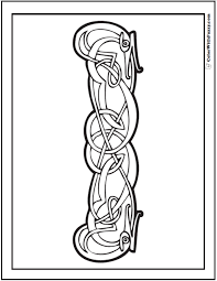 Celtic Animal Coloring Page And PrintableColoringPages At ColorWithFuzzy