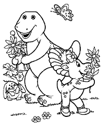 Barney Baby Bop And BJ Too Also Get Other Free Coloring Book Pages For Kids