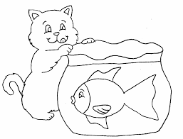 Blank Fish Bowl Coloring Page
