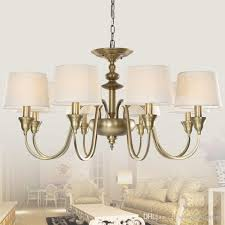 European Vintage 3 Lights Single Tier Chandelier Ceiling Antique Brass Chandeliers Lamp Shade Metal Lighting For Home Deco Contemporary Pendant Light