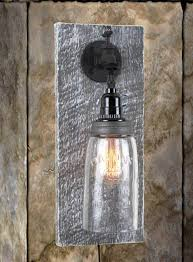 Reclaimed Barn Wood Mason Jar Wall Sconce - Rustic Barnwood Sconces Movie Theater Sconces Theatre Wall Lights Best Home Lighting Capvating Candle For Your Ideas Bathroom Black White Barn Sconce Incredible Veranda Bronze Finish Traditional Pottery Combines Rustic Look With Modern Restoration Outdoor Medium Shades Of Light Lends Farmhouse To Powder Room Remake Blog Images Decoration 30 Girly Vintage Inspiring Interior With