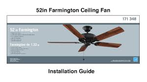 Hampton Bay Ceiling Fan Install by How To Install The Farmington Ceiling Fan Youtube