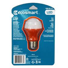 ecosmart orange led a19 light bulb 25w equivalent