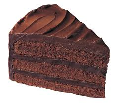 slice of chocolate cake clipart 8