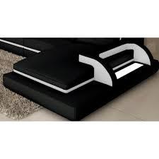 canapé d angle cuir design canapé d angle cuir noir et blanc design avec lumière ibiza angle