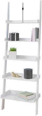 deuba standregal leiterregal weiß 180x64x37cm holz 5 etagen bücherregal badregal stufenregal treppenregal regal bad küche